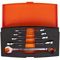 Bahco 1RM/S5 5-delige Steek-/ringratelsleutelset - 8-19mm