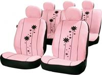 Car Plus stoelhoezenset Urban Girl uni polyester roze 15 delig