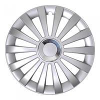 ProPlus wieldoppen Meridian 16 inch zilver set van 4