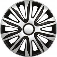 Carpoint wieldoppen Nardo 13 inch ABS zilver/zwart set van 4
