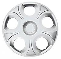 Car Plus wieldoppen Florida 13 inch ABS zilver set van 4