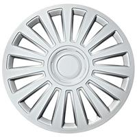 Car Plus wieldoppen California 13 inch ABS zilver set van 4