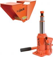 Kojack hydraulische caravankrik met waterpas 2 ton oranje