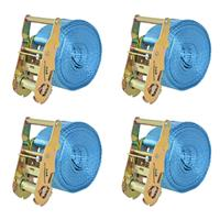 VidaXL Spanbanden 2 ton 6mx38mm blauw 4 st