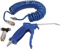 carpoint luchtpistool + spiraalslang 5 meter blauw