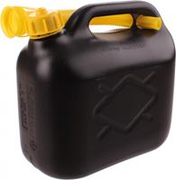 Eigen merk Jerrycan 5 ltr zwart benzinebestendig