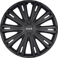 AutoStyle wieldoppen Giga 14 inch ABS matzwart set van 4