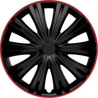 4-Delige Wieldoppenset Giga R 14-inch zwart/rood