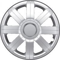 AutoStyle wieldoppen Radical 13 inch ABS zilver set van 4