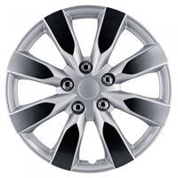 AutoStyle wieldoppen Arkansas 15 inch ABS zilver/gunmetal set van 4