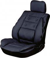 Carpoint stoelkussen met lendesteun 95 x 50 cm zwart