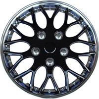 AutoStyle wieldoppen Missouri 15 inch ABS zwart/chroom set van 4 S