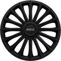 4-Delige Sparco Wieldoppenset Treviso 14-inch zwart