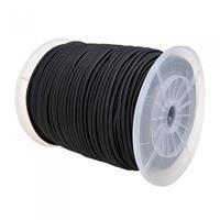 ProPlus elastisch koord 180 m op rol zwart