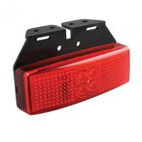 Pro+ Markeringslamp 12/24V rood 110x40mm LED met houder in blister