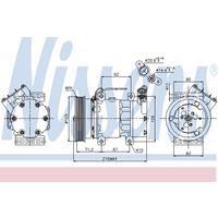 Compressor, airconditioning NISSENS, 1-polig