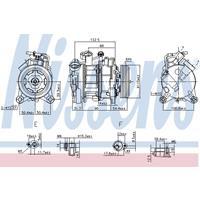 Kompressor, Klimaanlage   NISSENS (89026)