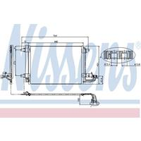 Kondensator, Klimaanlage | NISSENS (94684)