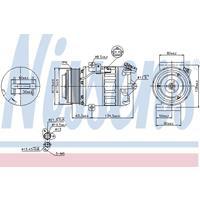 Kompressor, Klimaanlage   NISSENS (89313)
