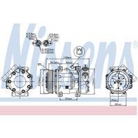 Kompressor, Klimaanlage   NISSENS (89336)