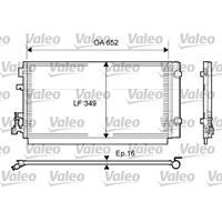 Kondensator, Klimaanlage | Valeo (814094)