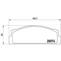 Bremsbelagsatz, Scheibenbremse | BREMBO (P 23 002)