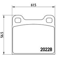 Bremsbelagsatz, Scheibenbremse | BREMBO (P 85 003)