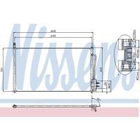 Kondensator, Klimaanlage | NISSENS (94432)