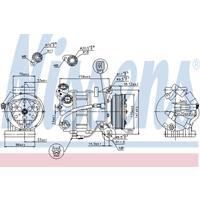 Kompressor, Klimaanlage   NISSENS (89350)
