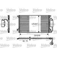 Kondensator, Klimaanlage | Valeo (817809)