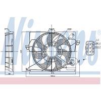 Kondensator, Klimaanlage | NISSENS (940093)
