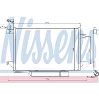 Kondensator, Klimaanlage | NISSENS (94910)