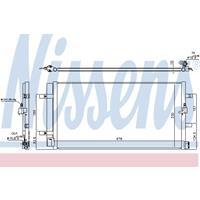 Kondensator, Klimaanlage | NISSENS (940453)