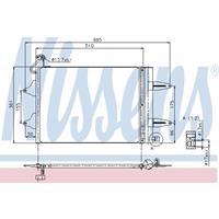 Kondensator, Klimaanlage | NISSENS (94628)