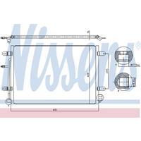 Kondensator, Klimaanlage | NISSENS (94851)