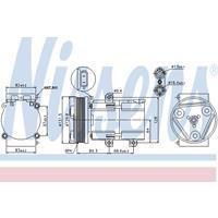 Compressor, airconditioning NISSENS