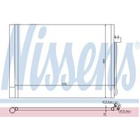 NISSENS Klimakondensator 940058 Kondensator,Klimakühler BMW,X5 E70,X6 E71, E72,X5 F15, F85,X6 F16, F86