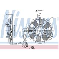 Ventilator, condensor, airconditioning NISSENS, 2-polig