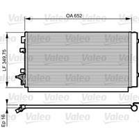 Kondensator, Klimaanlage | Valeo (814187)