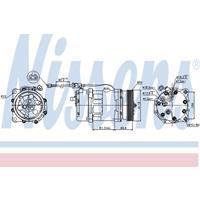 Compressor, airconditioning NISSENS, 2-polig