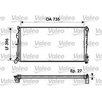 Valeo Wasserkühler 732956 Kühler,Motorkühler CHRYSLER,VOYAGER IV RG, RS