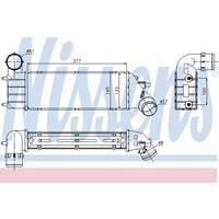 Intercooler, inlaatluchtkoeler NISSENS