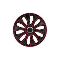 Set 16 inch Voltec Pro Black zwart/rood PETEX