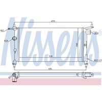 Kühler, Motorkühlung   NISSENS (632851)