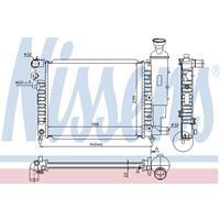 NISSENS Wasserkühler 63522 Kühler,Motorkühler PEUGEOT,106 I 1A, 1C
