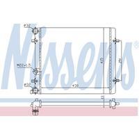 Kühler, Motorkühlung   NISSENS (641011)