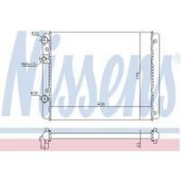Kühler, Motorkühlung   NISSENS (652341)