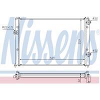 Kühler, Motorkühlung   NISSENS (652511)