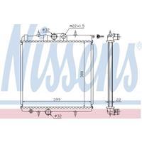 Kühler, Motorkühlung   NISSENS (63708A)