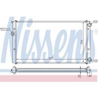 Kühler, Motorkühlung   NISSENS (652471)